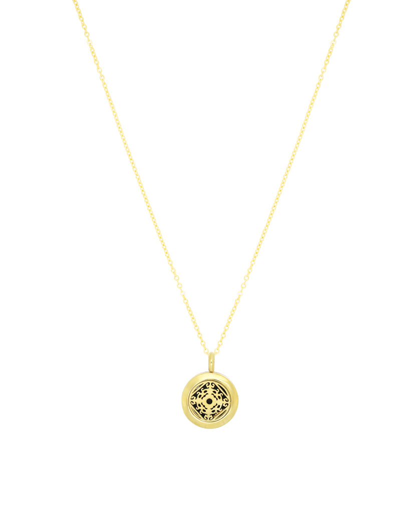 gold diffuser necklace aroma couture