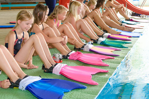 Mermaid costume swimming classes