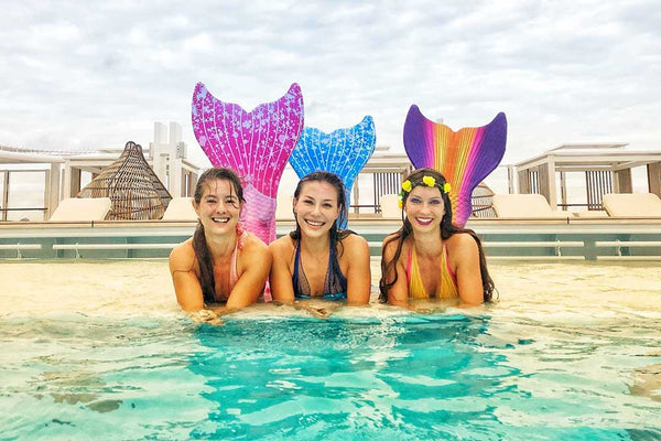 Swimmable mermaid tails for adults