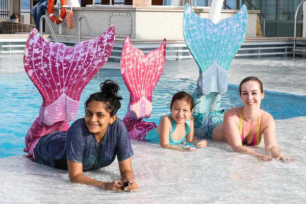 Swimmable mermaid tails for kids