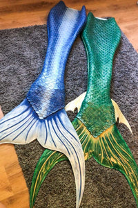 Barracuda Silicone Tails for Mermaids and Mermen