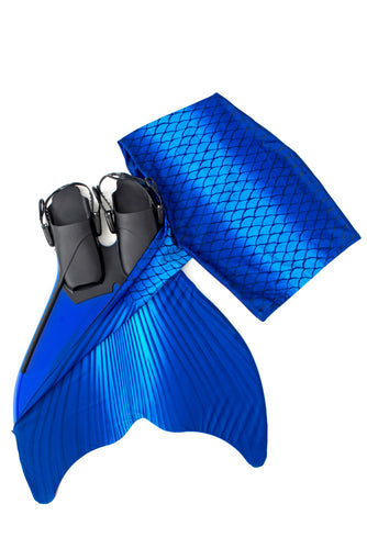 Blue swimmable mermaid tail for kids