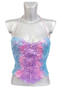Corset scales top for mermaids