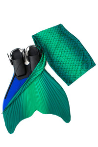 Green Realistic mermaid tails for swimming