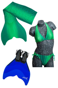 Mermaid Tail Sets (Monofin, Bikini and Tail Skin)