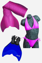 Load image into Gallery viewer, Mermaid Tail Sets (Monofin, Bikini and Tail Skin)