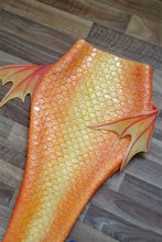 Load image into Gallery viewer, Orange Silicone Mermaid tail by Mermaid Kat Shop