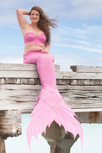 Pink Pre-Made Silicone Mermaid Tail