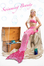 Load image into Gallery viewer, Princess Mermaid Tail Skin & Bikini (No Monofin)