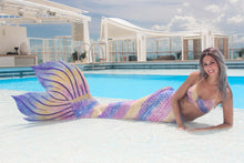 Load image into Gallery viewer, Rainbow Silicone Tail for Mermaids