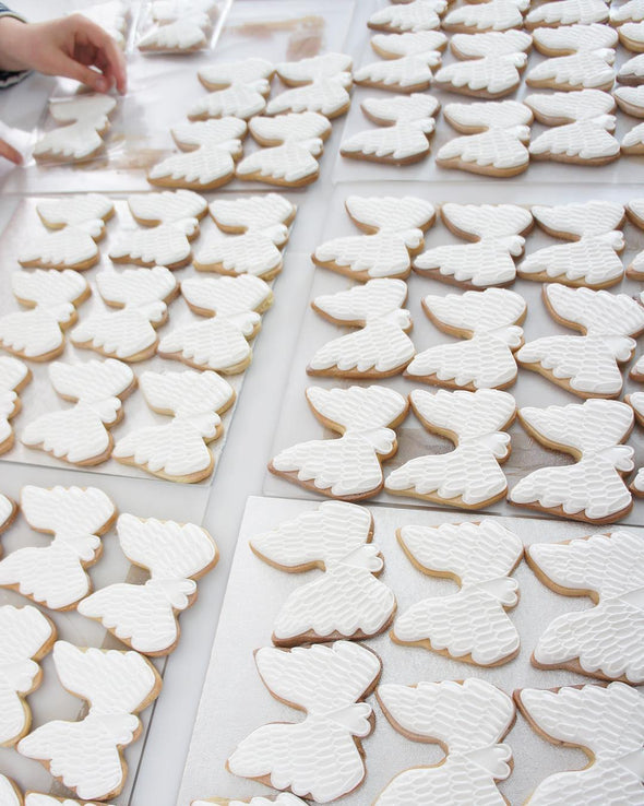 Angel Wing Cookies - Tuck Box Cakes