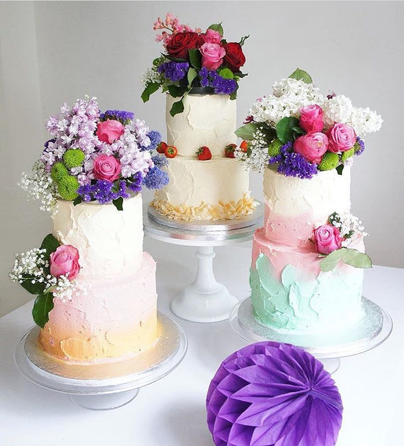 Fresh Flower Buttercream Cakes - Tuck Box Cakes