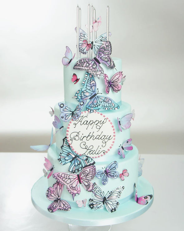 Pastel Butterfly Cake - Tuck Box Cakes