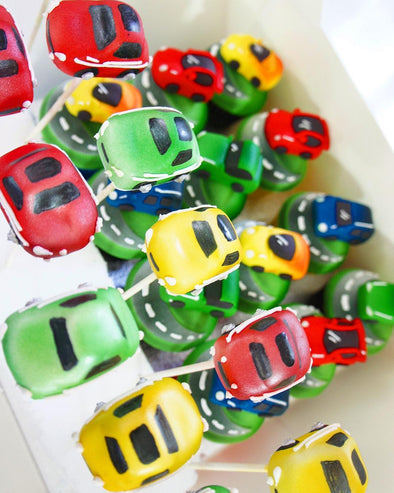 Car cake pops - Tuck Box Cakes