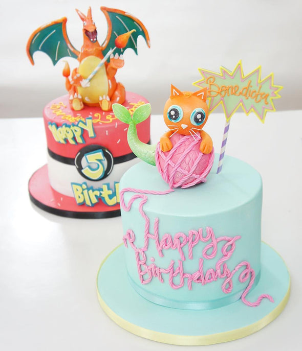 Mermaid Cat Cake - Tuck Box Cakes