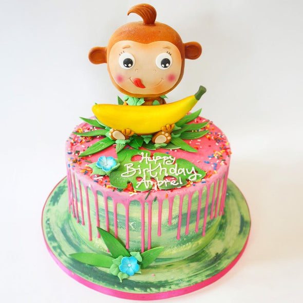 Cheeky Monkey Cake - Tuck Box Cakes