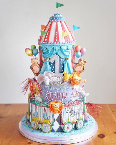 Tiered Circus Cake - Tuck Box Cakes