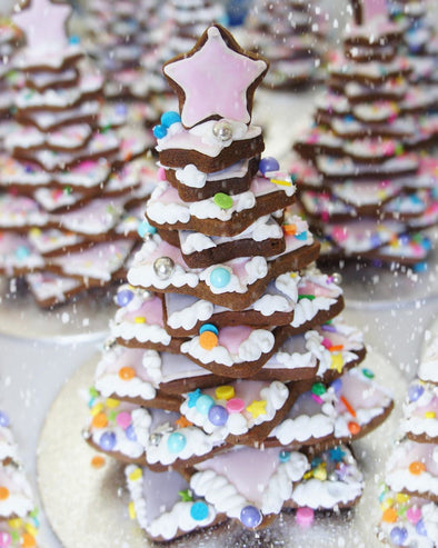 Gingerbread Cookie Trees - Tuck Box Cakes