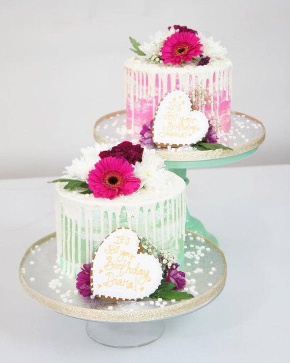 Fresh Flower Drip Cake - Tuck Box Cakes