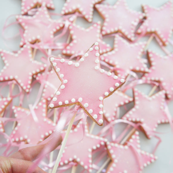 Star Wand Cookie Pops - Tuck Box Cakes