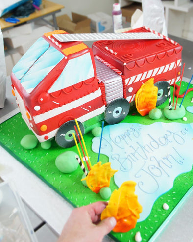 Fire Engine Cake - Tuck Box Cakes