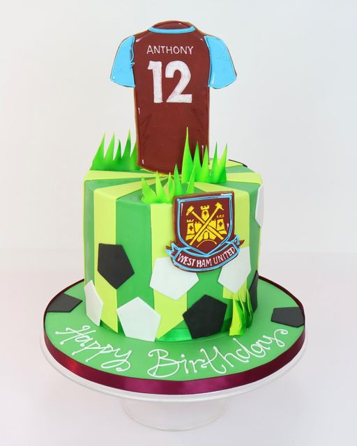 Football Shirt And Crest Cake