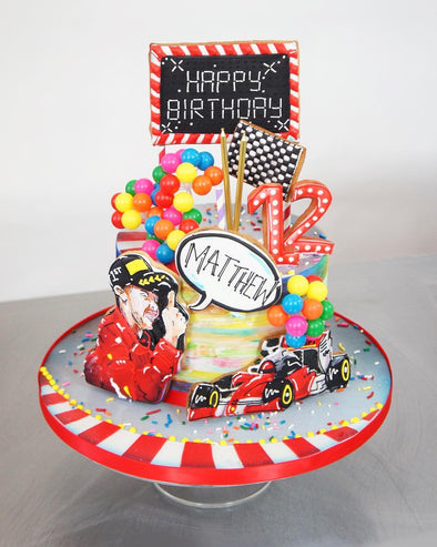 Formula One Cake - Tuck Box Cakes