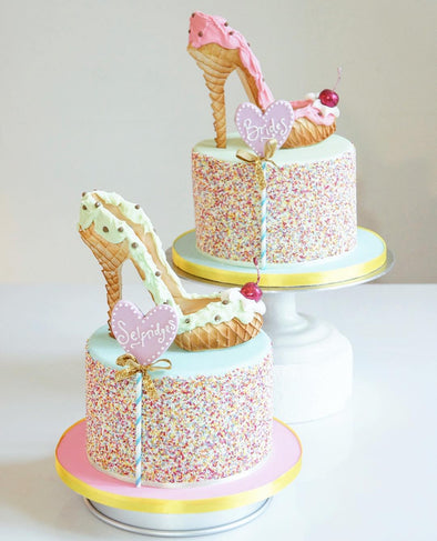 Ice cream Sundae Sprinkle Shoe Cake - Tuck Box Cakes