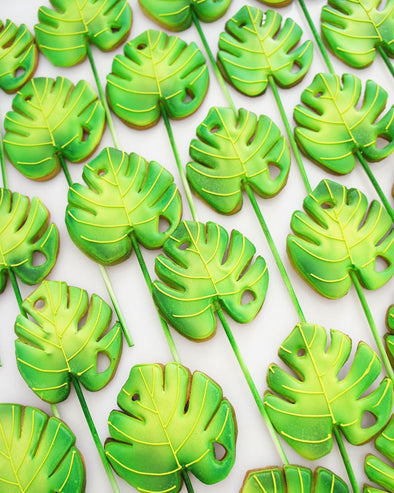 Jungle Leaf Cookie Pops - Tuck Box Cakes
