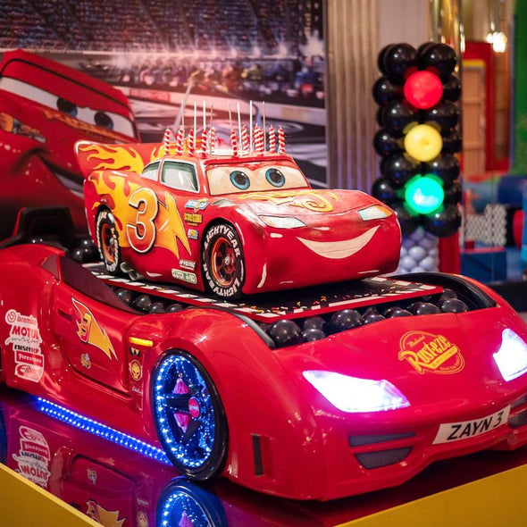 Lightning McQueen Sculpted Cake - Tuck Box Cakes