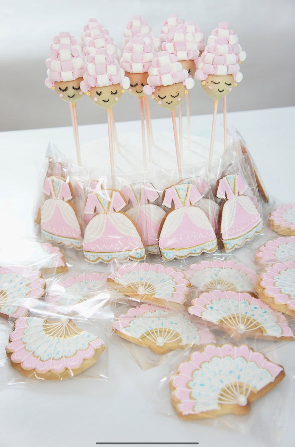 Marie Antoinette Cookies And Cake Pops - Tuck Box Cakes