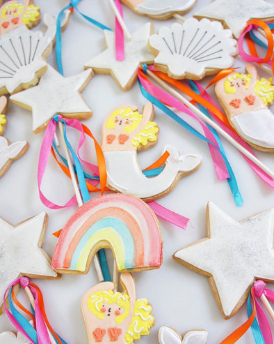 Mermaid Party Cookies - Tuck Box Cakes