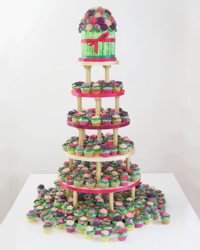 Buttercream Flower Tower - Tuck Box Cakes