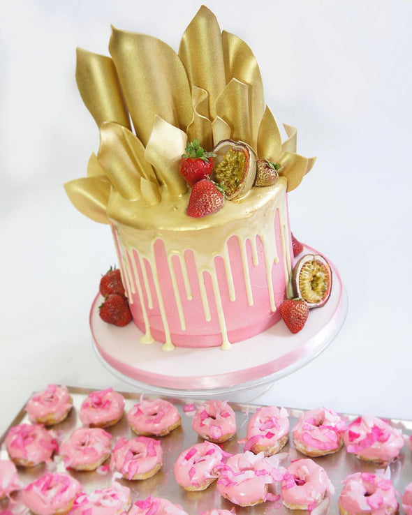 Gold Sail Drip Cake - Tuck Box Cakes
