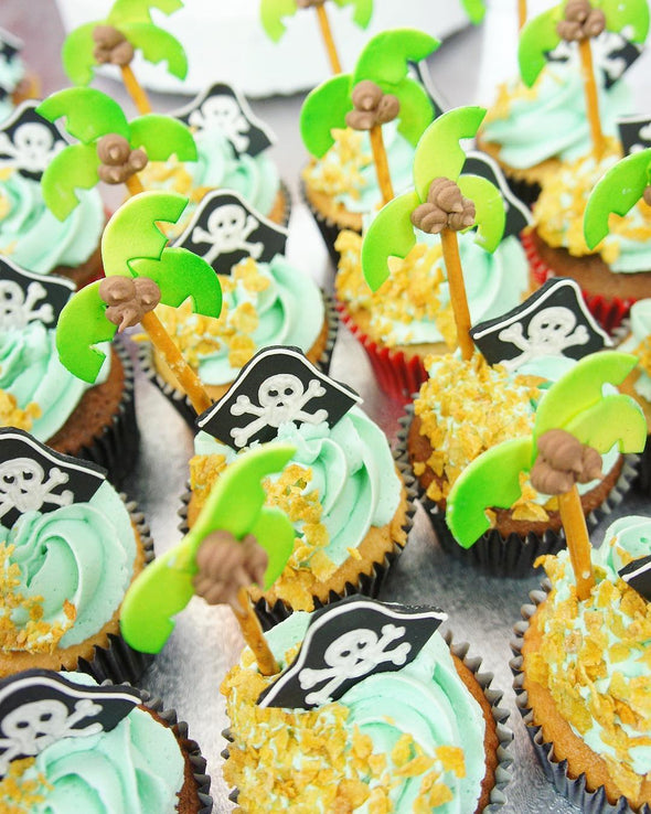 Treasure island cupcakes - Tuck Box Cakes