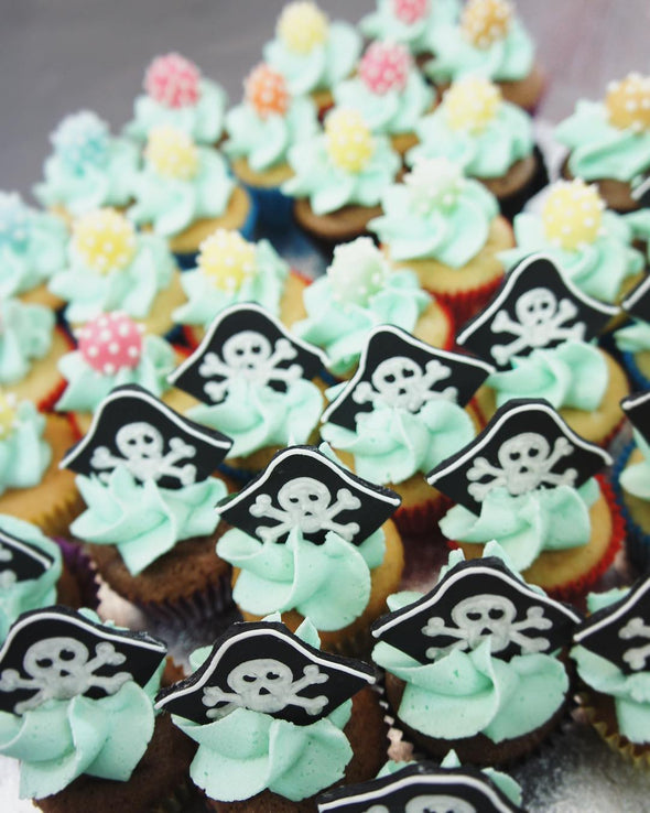 Pirate hat mini cupcakes - Tuck Box Cakes