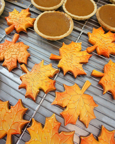 Autumn Leaf Cookies - Tuck Box Cakes