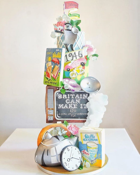 Retro Cake - Tuck Box Cakes