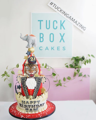 Circus tiered cake - Tuck Box Cakes