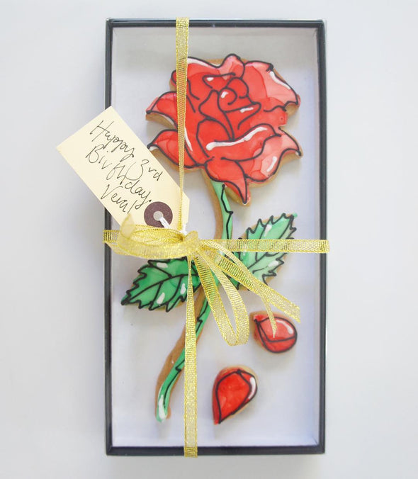 Stained Glass Rose Cookie - Tuck Box Cakes