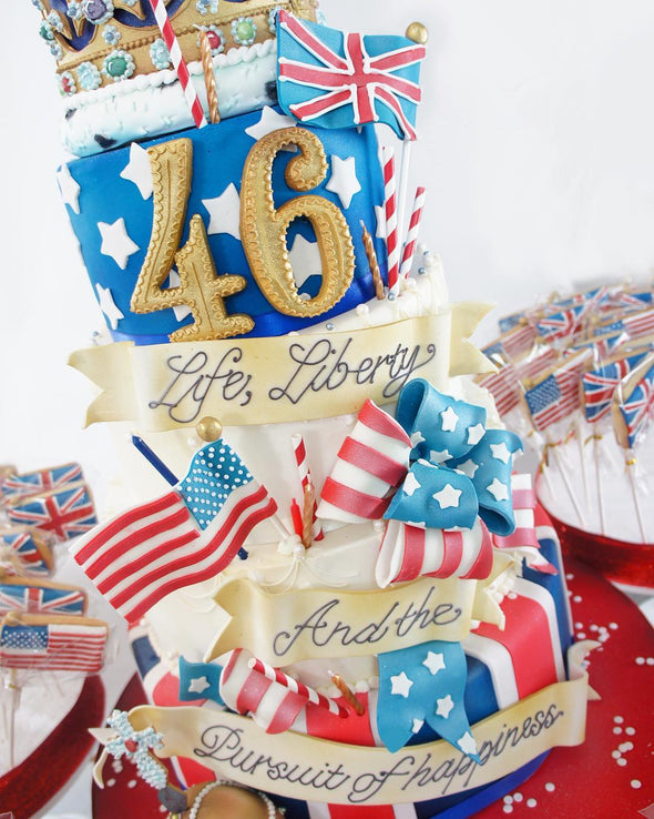 UK and USA united cake - Tuck Box Cakes