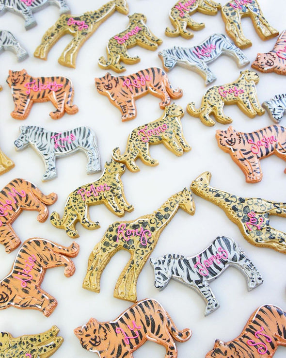 Metallic Animal Cookies - Tuck Box Cakes