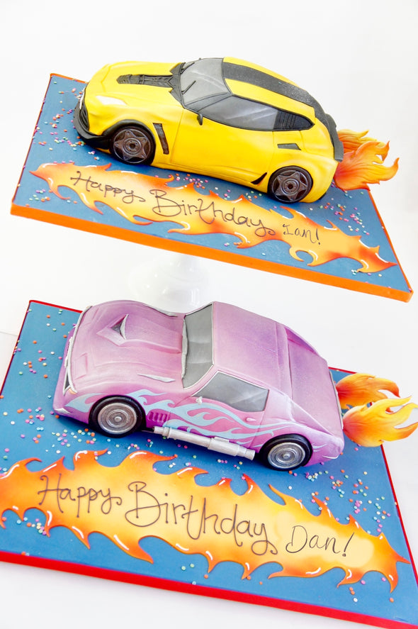 Sculpted car cakes - Tuck Box Cakes