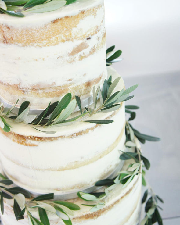 Olive Branch Naked Cake - Tuck Box Cakes
