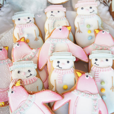Penguin And Snowman Cookies - Tuck Box Cakes
