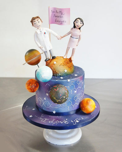 Outer Space Wedding Cake