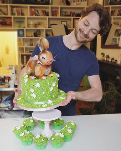 Spring Rabbit Cake - Tuck Box Cakes