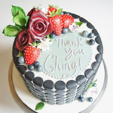 Summer Fruits Polka Dot Cake - Tuck Box Cakes