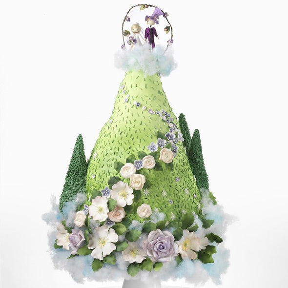 Fantasy Mountain Wedding Cake - Tuck Box Cakes