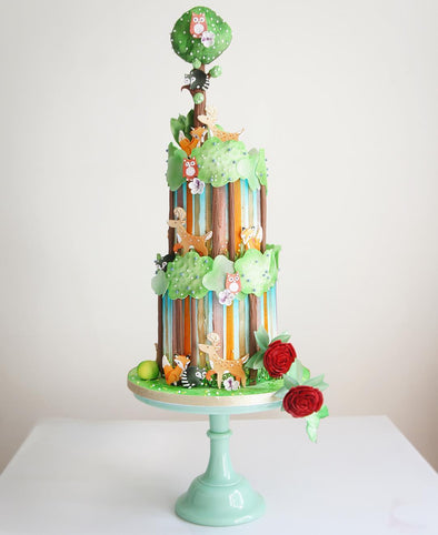 Woodland Creatures Forest Cake - Tuck Box Cakes